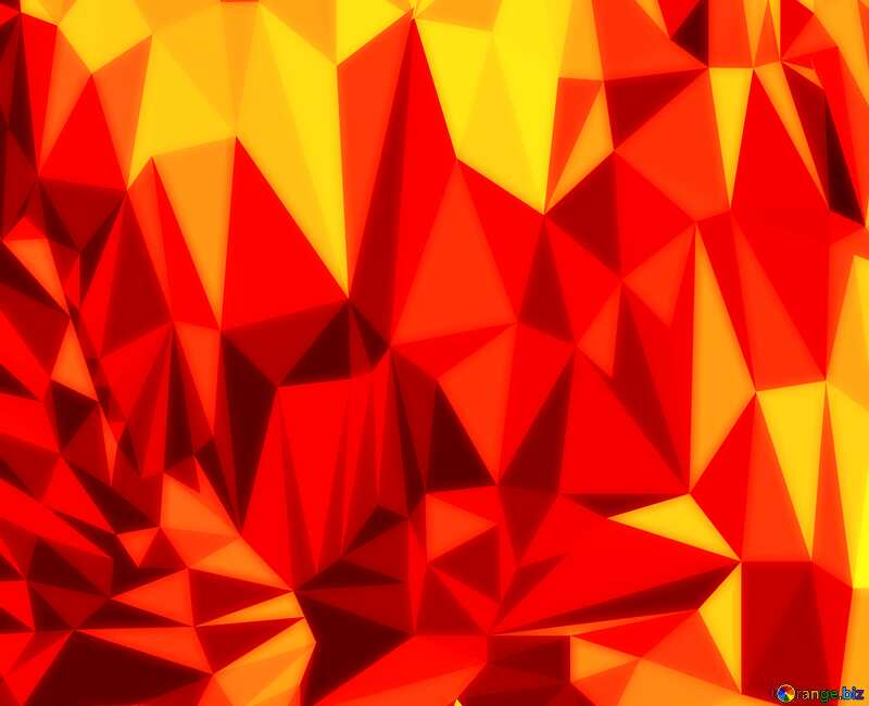Polygonal background with triangles soft orange №51581