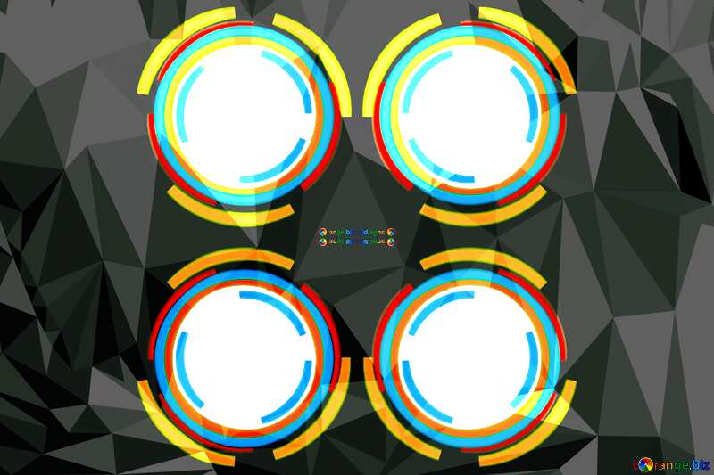 Infographics circle frame polygonal background №49680
