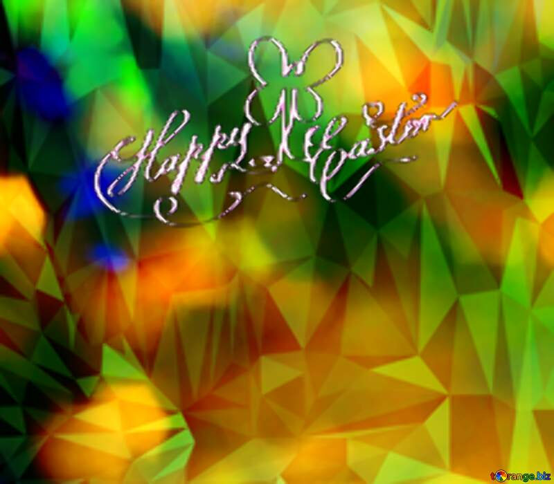 Color  festive  background.  Polygon happy  easter №7343