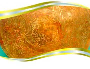 The effect of light. Very Vivid Colours. Metal frame border.