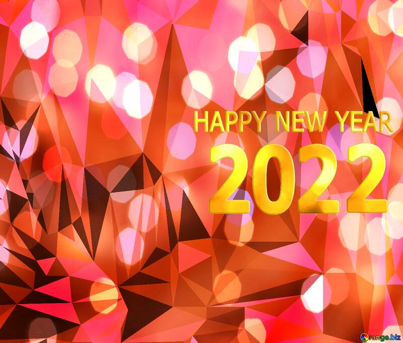Polygon background happy new year 2021 №51583