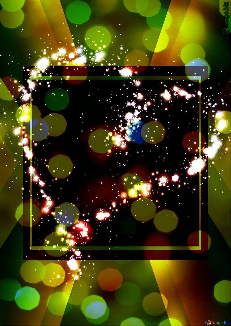 Heart of the stars Christmas bokeh background №40001