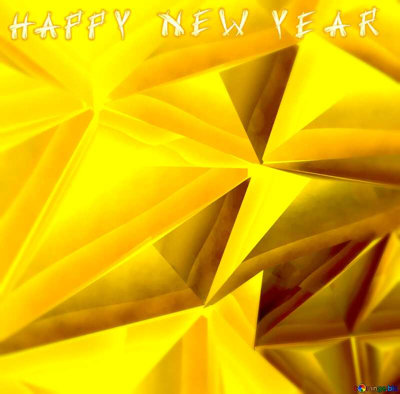 Polygon gold background happy new year №51586