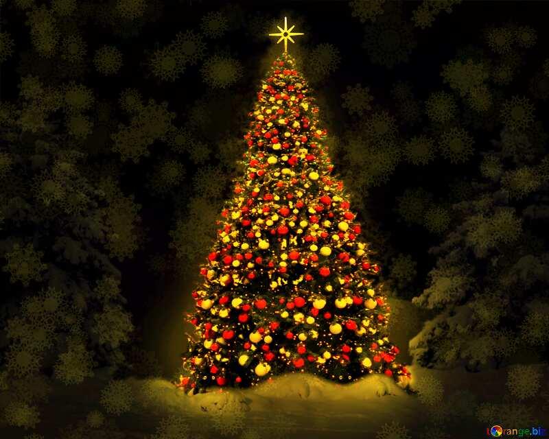 Christmas tree lights №40739