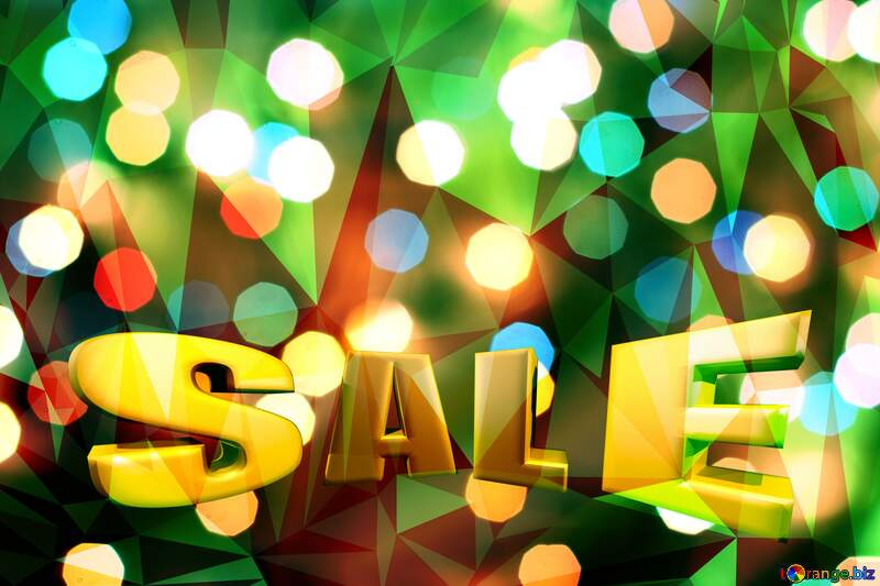 Christmas green  polygonal  sale background №24617
