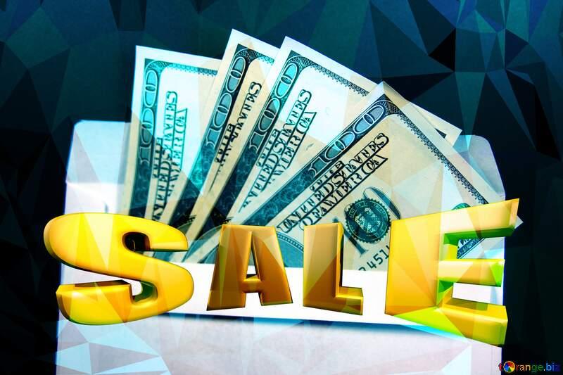 Envelope, U.S. dollars  sale Gold promotion background №4984