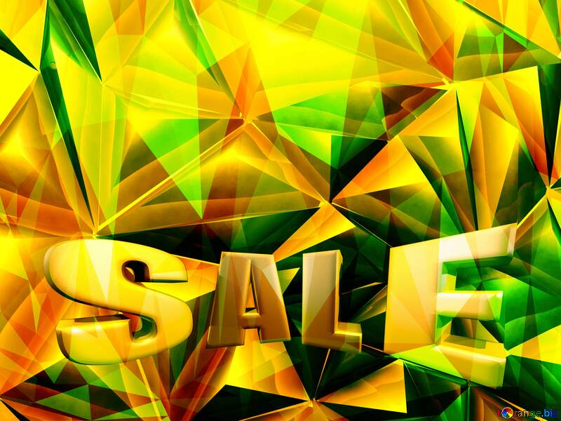 Polygon sale gold background №51586