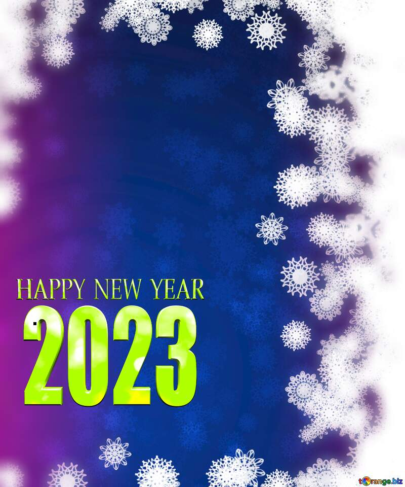 New year background with snowflakes 2021 №40728