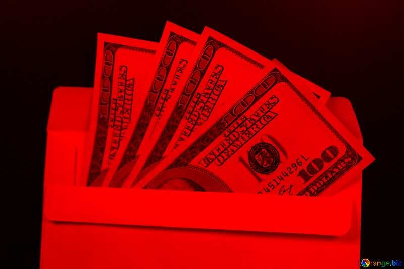 Envelope, U.S. dollars red №4984