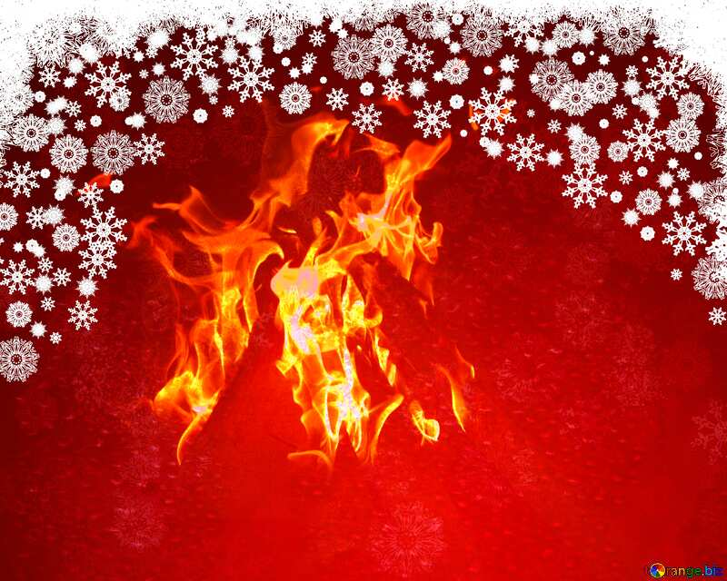 Red Christmas Fire background №40659