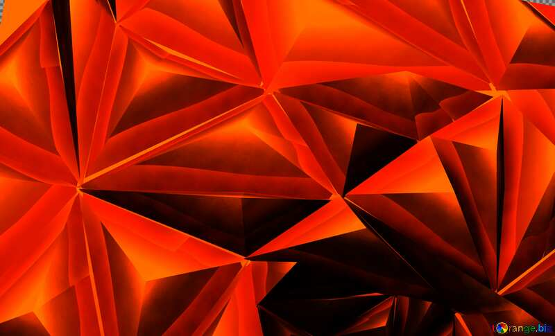 Polygon red metal background №51586