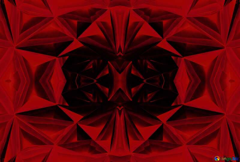 Polygon red pattern background №51586