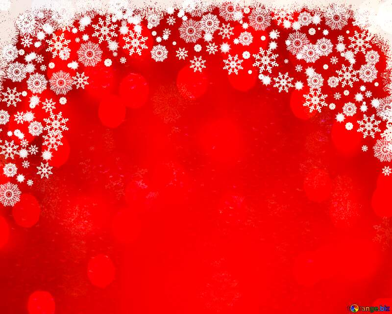 Red Christmas bokeh  lights background №40659