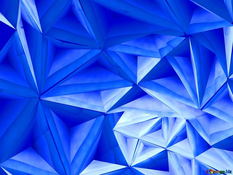Polygon blue  background №51586