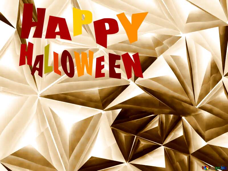 Polygon happy halloween background sepia №51586