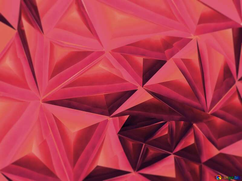 Polygon pink metal background №51586