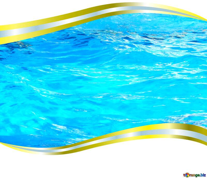 Waves on water metal frame border №25166