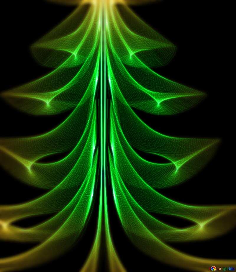 Christmas tree blur frame №40654