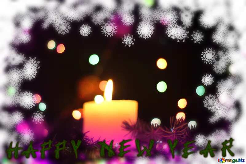 Background Christmas candle snowflake happy new year №40724