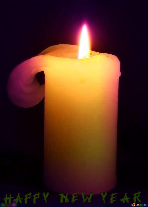 Burning  candle happy new year №6175