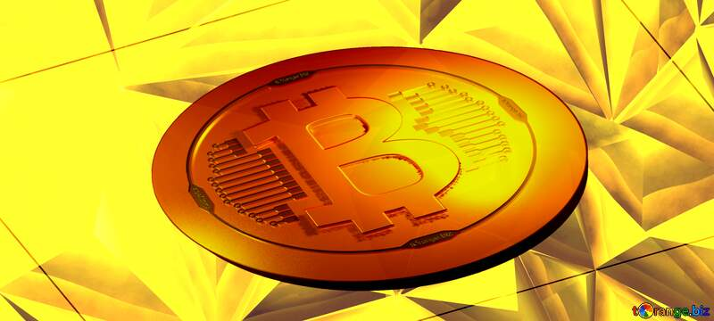 Polygon gold  bitcoin background №51586