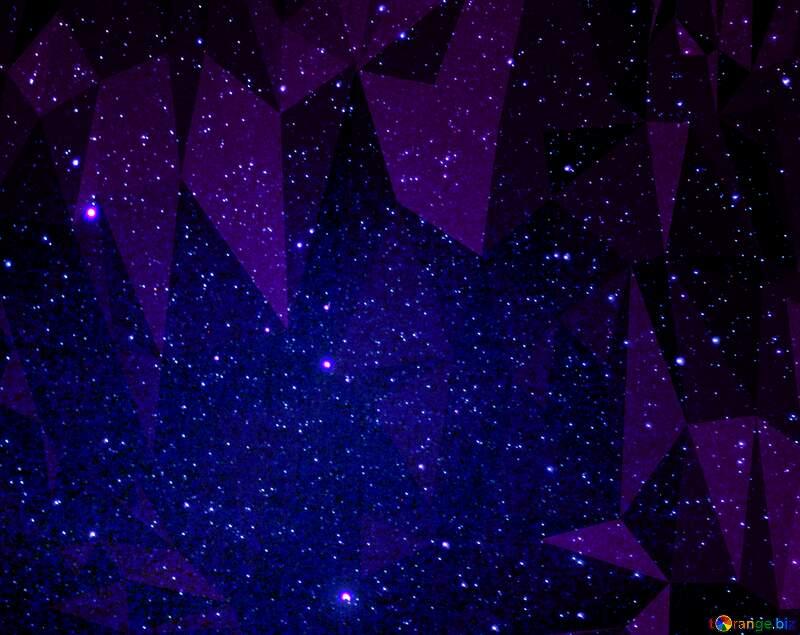 Stars  sky polygonal background dark red №44731