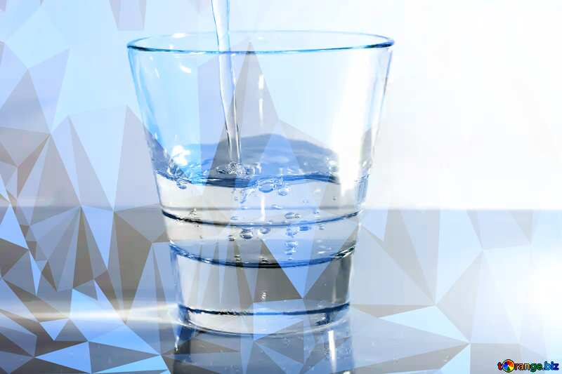 Drinking water polygonal №19987