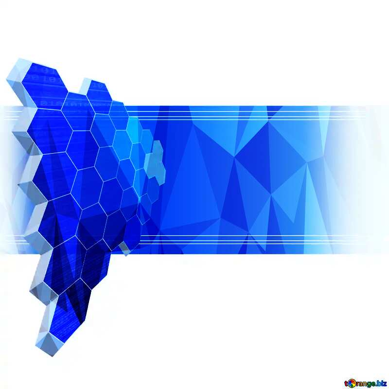 polygonal picture business information it technology concept №49674