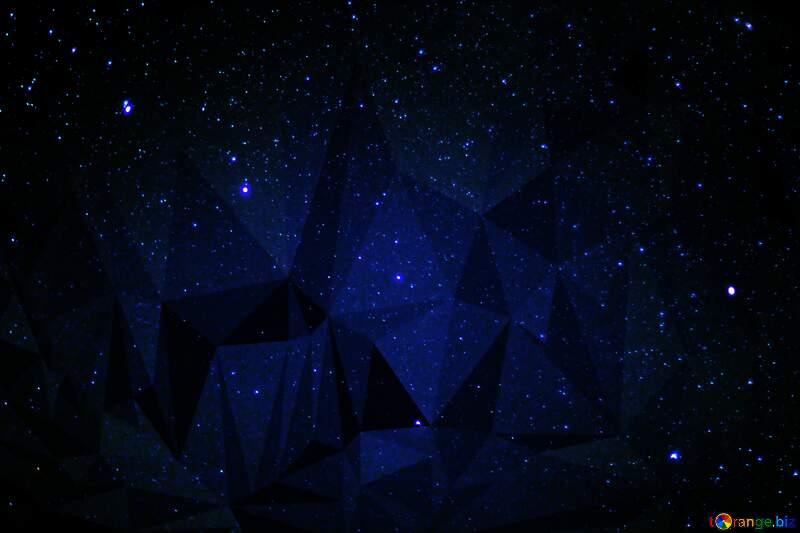 Stars  sky polygonal background dark blue №44731