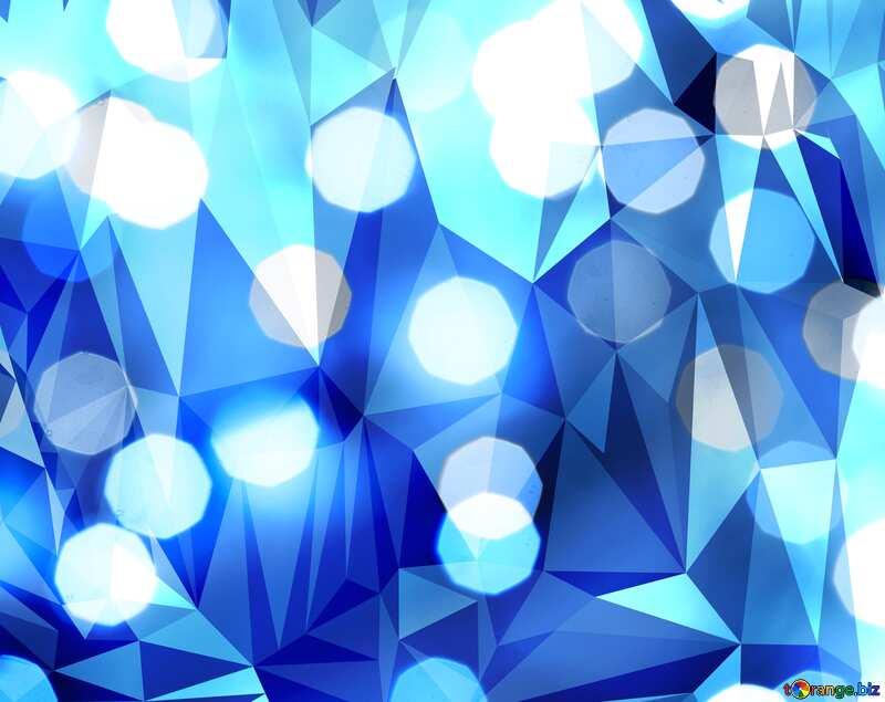 Christmas polygonal blue bokeh  background №24617