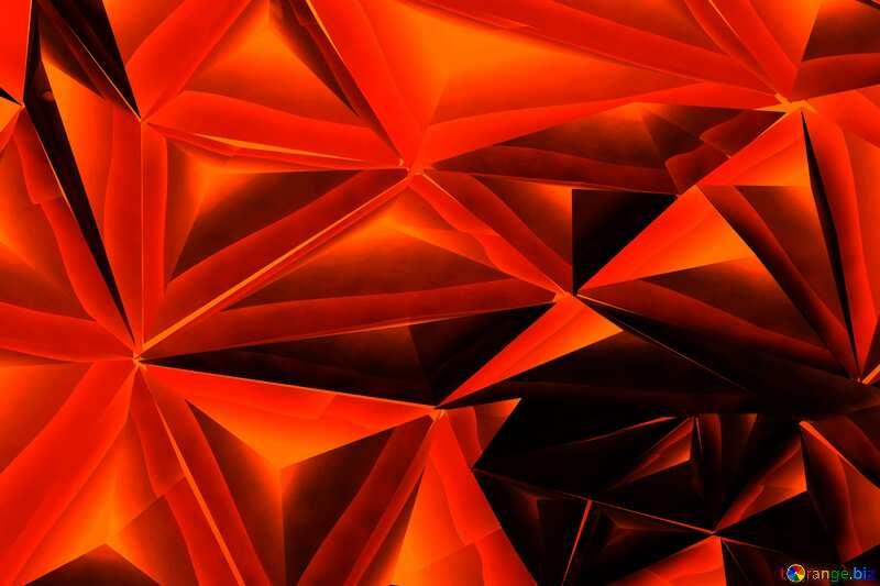 Christmas  polygonal red metal bokeh  background №24617