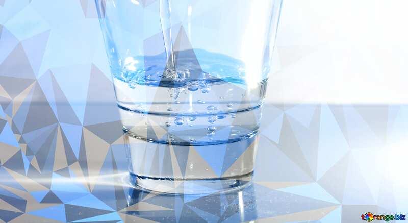 Drinking water blue Polygonal №19987