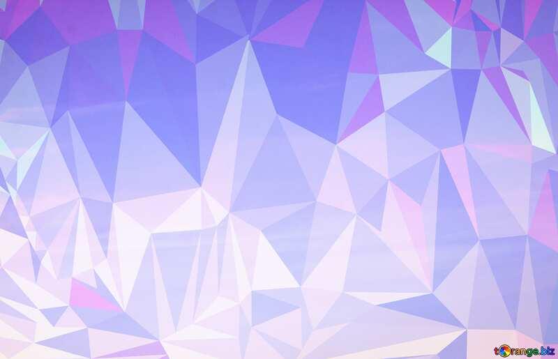 Clear sky Polygonal triangles background №20213