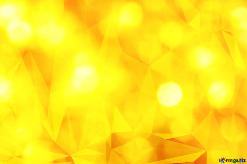 Gold Polygonal triangles hot background №37815