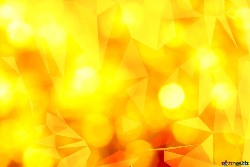 Gold Polygonal background triangles orange №37815