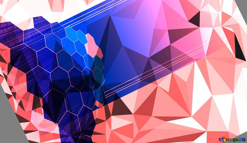 Polygonal business information technology concept background №49674