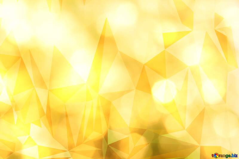 Gold Polygonal triangles color background №37815
