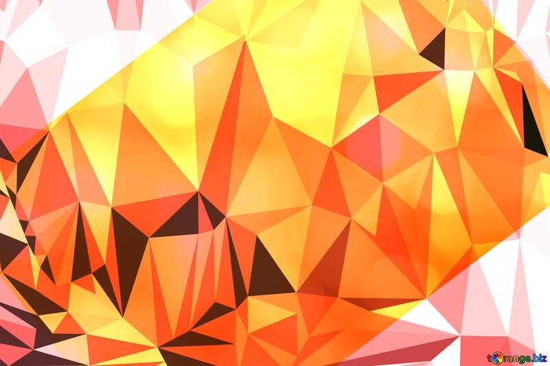 Gold card  Polygonal background №37815