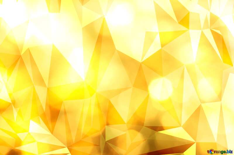 Gold Polygonal bokeh  background №37815