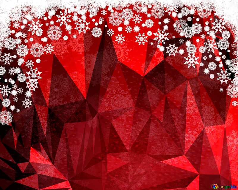 Red Christmas Polygonal background №40659