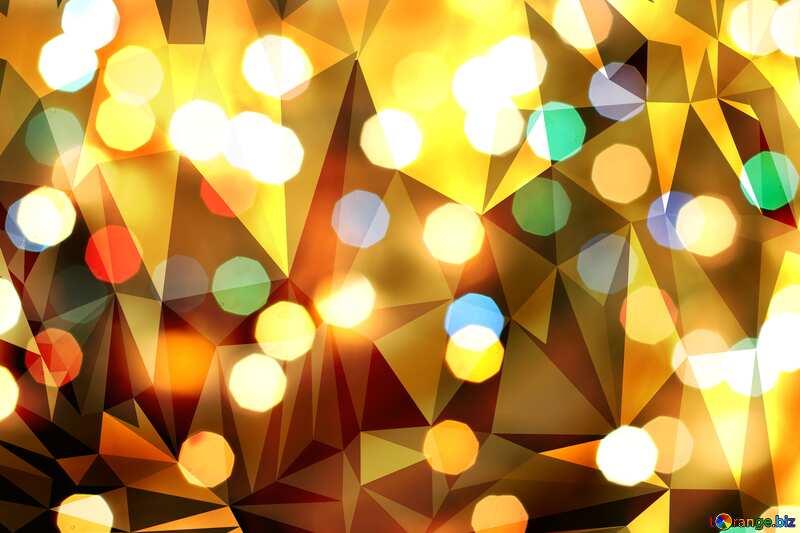 Christmas  polygonal background №24617