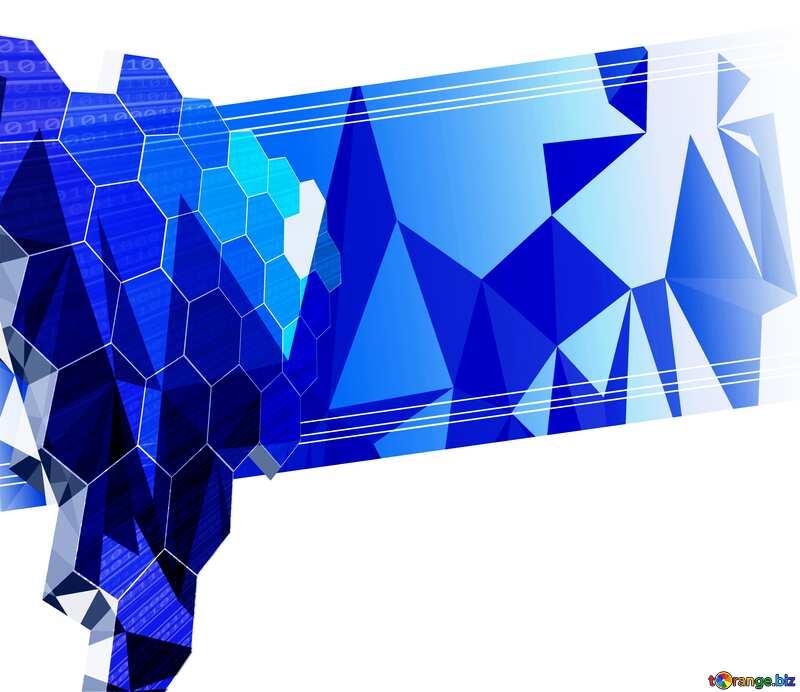 business technology Polygonal background blue №49674