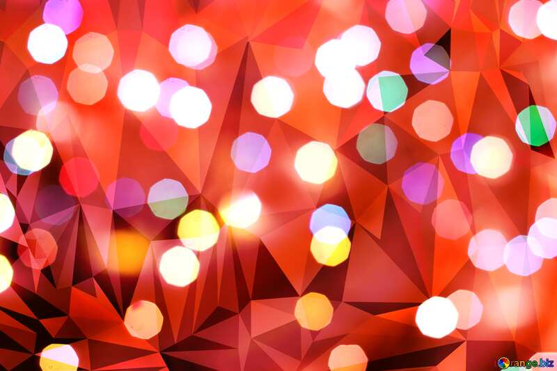 Christmas background Polygonal red №24617