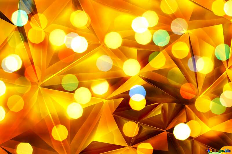 Christmas gold metal bokeh  polygonal background №24617