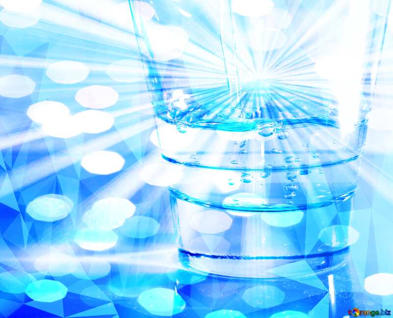 Drinking water Rays  polygonal sunlight №19987