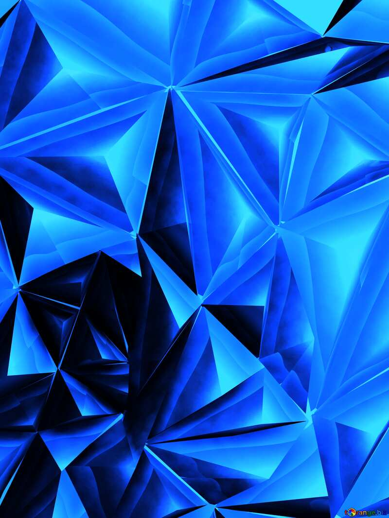 Polygonal metallic blue texture №51586