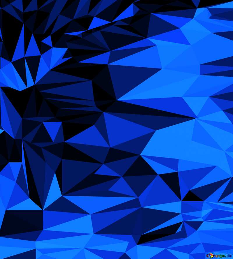 Polygon background with triangles dark blue №51583