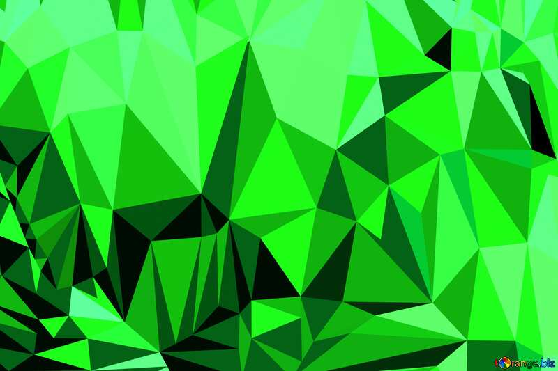 Chocolate heart Polygonal abstract geometrical background with triangles Green №16373