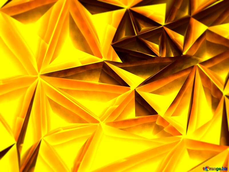 Polygon gold background blur frame №51586