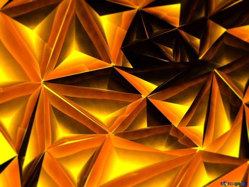Polygon gold background dark №51586